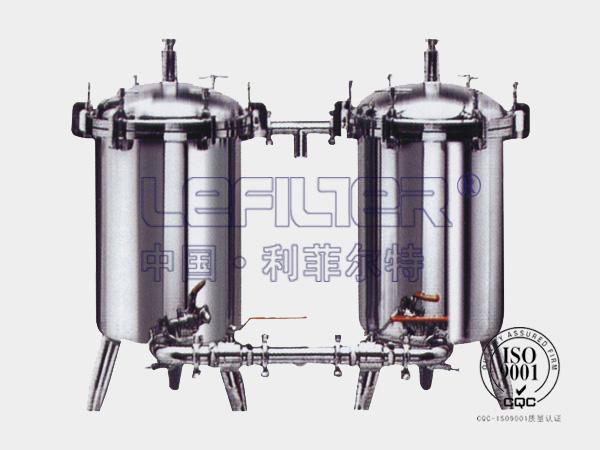 不锈钢双联冷却水过滤器